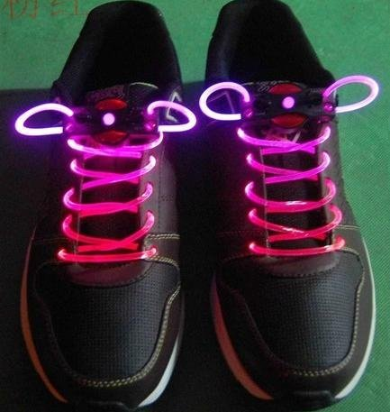 LED Light up Shoelaces Flash Shoestrings-Pink (Led Light Up Shoe Laces compare prices)