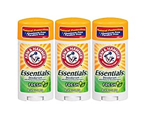 Arm & Hammer Essentials Solid Deodorant Fresh 2.5Oz (3 Pack)