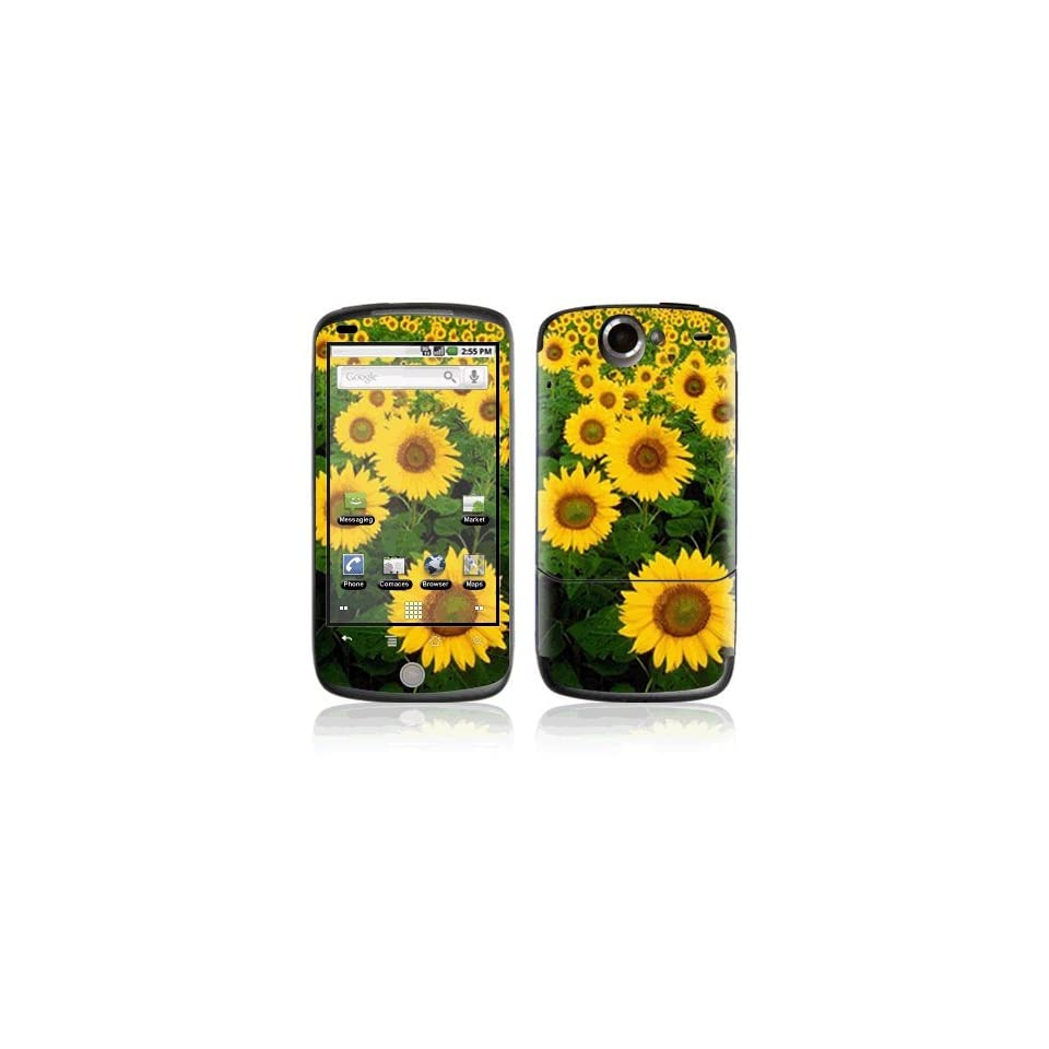 Sun Flowers Decorative Skin Cover Decal Sticker for HTC Google Nexus One (Sprint) Cell Phone