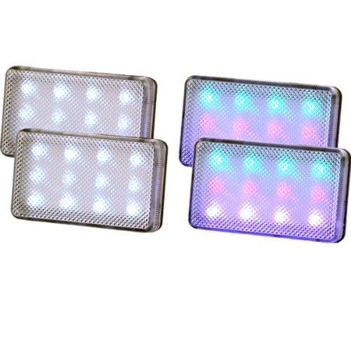 Mr. Light 4-Pack Strobe Lights Super Bright 12-LED Strobe Light, Multifunction Switch