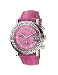 Gucci Women's YA101313 G-Chrono Pink Crocodile Strap Watch