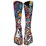 Space Hardrock Machine Funny Socks Casual Cotton Hot