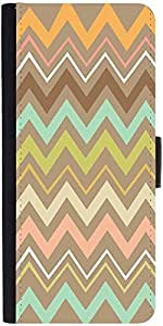Snoogg Aztec Designs Graphic Snap On Hard Back Leather + Pc Flip Cover Lg G4