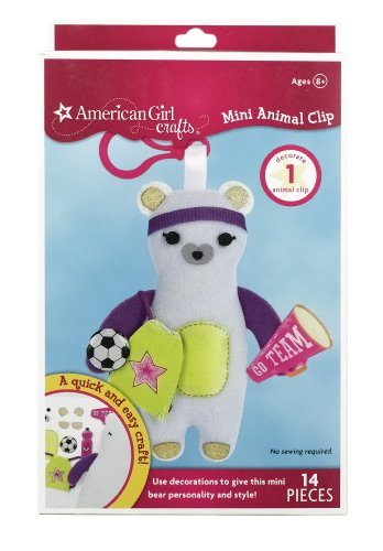 American Girl Crafts Mini Animal Clip, Bear