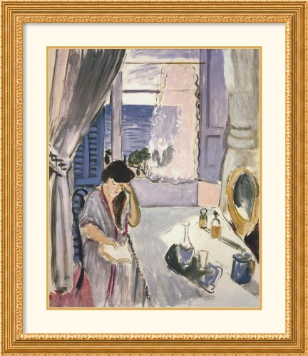 Woman Reading At A Dressing Table By Henri Matisse Framed front-757530