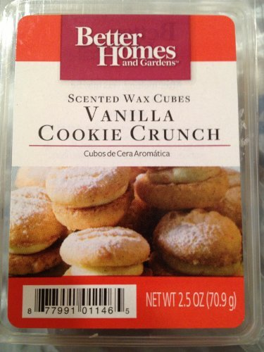 1 X Better Homes and Gardens Vanilla Cookie Crunch Wax Cubes (Better Home And Garden Wax Cubes compare prices)