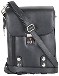 Gagan Leather House Leather Black Messenger Bag