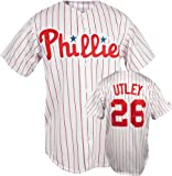 Majestic Phillies/Utley Replica Home Jersey
