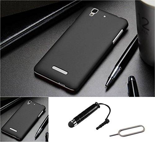 TCA Matte Yu Yureka / YU Yureka Plus Rubberized Finish Hard Case - Black With Mini Stylus & Eject Pin