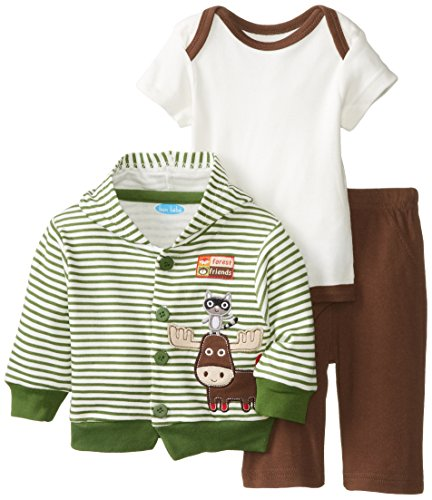 BON BEBE Baby-Boys Newborn Forest Friends Hooded
