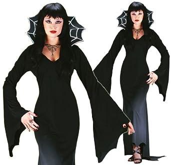 Fun World Sexy Womens Black Widow Vampire Witch Halloween Costume M/L