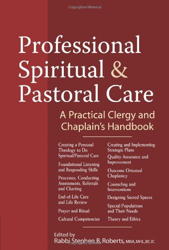 Professional Spiritual And Pastoral Care: A Practical Clergy And Chaplain'S Handbook front-74851