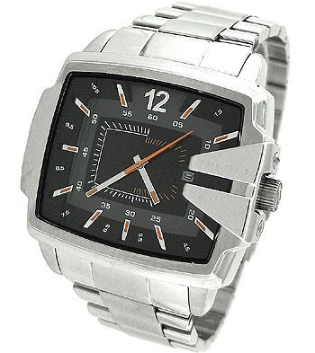 Diesel Men's DZ1497 Not So Basic Basic Silver Watch