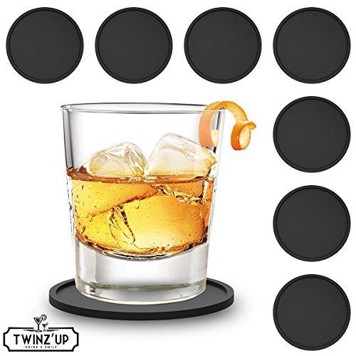 twinzup-sottobicchieri-drink-in-silicone-set-da-8-pezzi-nero