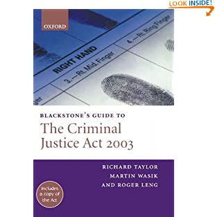 Blackstone's Guide to the Criminal Justice Act 2003 (Paperback)