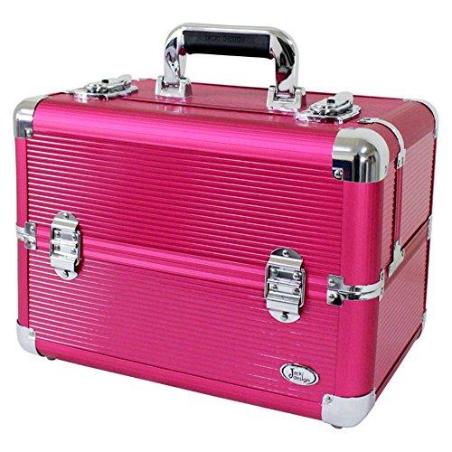 jacki-design-aluminum-professional-makeup-train-case-w-adjustable-dividers-bsb14127-hot-pink-by-jack