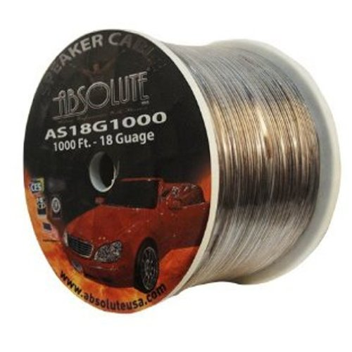 Absolute As18G1000C 18-Gauge Speaker Wire (1000 Feet)