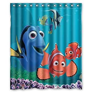 Finding nemo custom polyester waterproof bath - Finding nemo bathroom sets ...