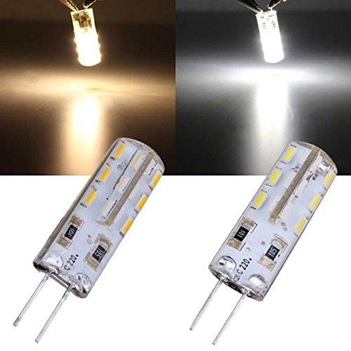 G4 1.5W Warm White/White 24 Smd 3014 220V Led Light Bulb
