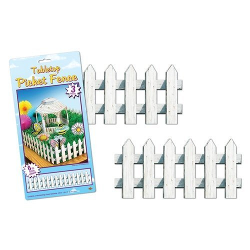 Tabletop Picket Fence Party Accessory (1 count) (3/Pkg)