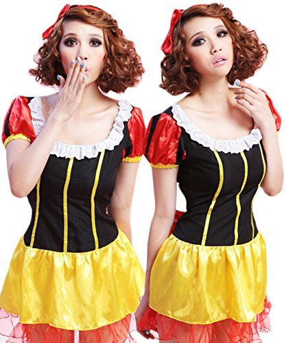 Coolsky Lovely Princess Snow White Dress Costume