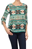G2 Chic Women's Layered Back Tribal Top