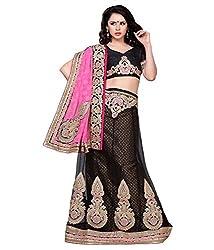 Manvaa Women Net Lehenga Choli(Black_ASTT103_Free Size)