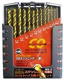 H&H コバルトハイス鋼ドリルセット 13PCS HCD-13 350206