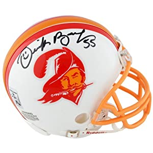 Derrick Brooks Tampa Bay Buccaneers Autographed Riddell Throwback Mini Helmet - Memories - Mounted Memories Certified