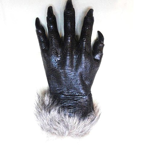 Jiayiqi Hands Wolf Gloves Cosplay Werewolf Gloves Wolf Claw Gloves for Adult