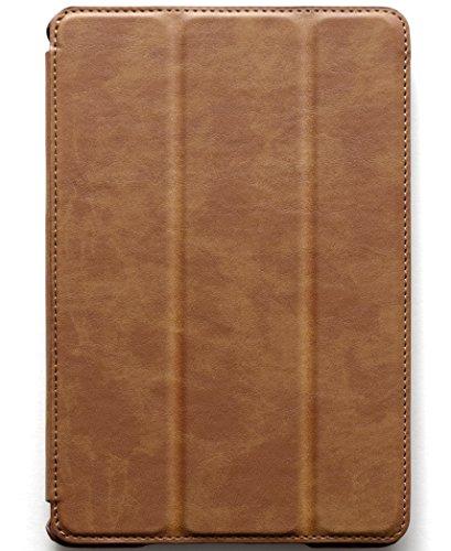 JISONCASE & your case 【ビンテージ合成レザー】 iPad Air & iPad mini シリーズ スマートケース (iPad mini3 & iPad mini2 & iPad mini , CAMEL)