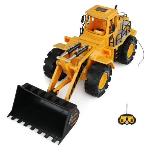 RC-ferngesteuerter-Bagger-Baustellen-Fahrzeug-Auto-Modell-mit-Schaufel-Radlader-110-Ready-To-Drive-Schwenkbare-Schaufel-Neu