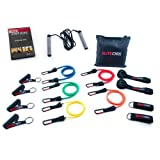 Elite Cords Resistance Bands 5 Pack With Travel Bag With Jump Rope And DVD
