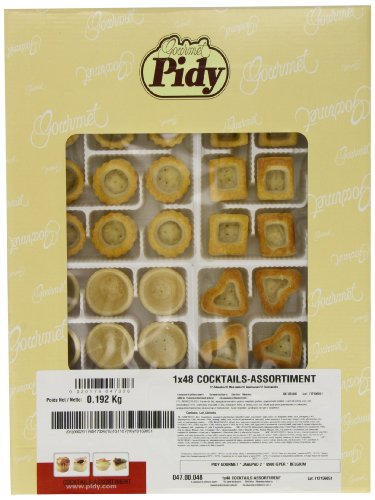 Pidy Cocktail Assortment Mini Puff Pastry 48 Pieces
