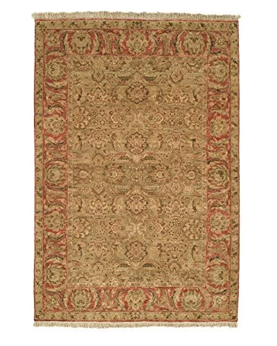 Safavieh Old World Hand-Knotted Rug, Light Green/Rust, 6' x 9'
