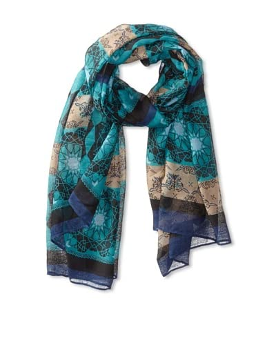 Jules Smith Women's Kaleidoscope Scarf, Teal