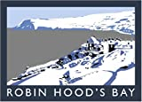 Robin Hood's Bay in Snow Art Print (A3)