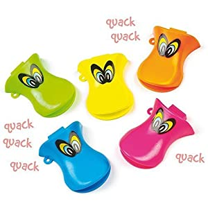 Pack of 12 Duck Quacker Whistles - Great Party Boys and Girls Loot Bag Fillers