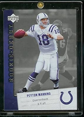 2006 Upper Deck Rookie Debut Peyton Manning Indianapolis Colts Football Card #42 - Mint Condition-Shipped In Protective ScrewDown Display Case!!