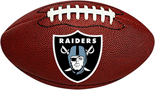 Creative Converting Oakland Raiders Football-Shaped Decorative Logo Cutout