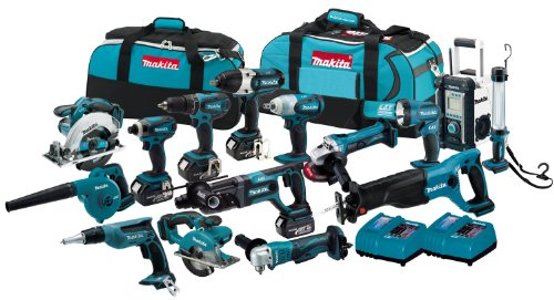 Makita LXT1500 18-Volt LXT Lithium-Ion Cordless 15-Piece Combo Kit