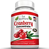 Cranberry Concentrate Supplement Pills Triple Strength for Urinary Tract Infection UTI Health Support. Equivalent To 12,600 mg of Fresh Cranberries! Promote Kidney, Urinary or Bladder Infection Health for Men and Women. Extra Antioxidant Protection With Vitamins C and E. No Preservatives. Sugar FREE. No More Sweetened Cranberry Juice! Proudly Made In USA. Top Quality With Rave Reviews. Worth Every Penny.