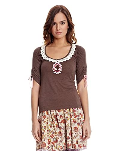 Mamatayoe T-Shirt Manica Corta Momy [Cioccolato]