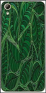 Snoogg Abstract Sketch Of Leaf Background Vector Illustration Designer Protective Back Case Cover For HTC Desire 826