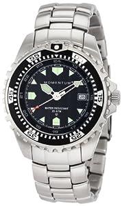 Momentum Men's 1M-DV00B0 M1 Black Dial Stainless-Steel Bracelet Watch