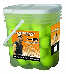 Buy Dunlop Sports Pressureless 48 Ball Bucket by Dunlop Sports