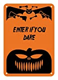 "Reflective Aluminum Halloween Sign ""Enter If You Dare"" 7"" x 10"" (HW-0015-RA)"