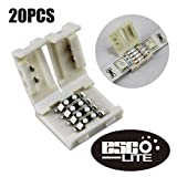 Esco-Lite 20PCS 4Pin RGB 5050 LED Light Strip Solderless Connector Adapter For 5050SMD Non-waterproof RGB led strip