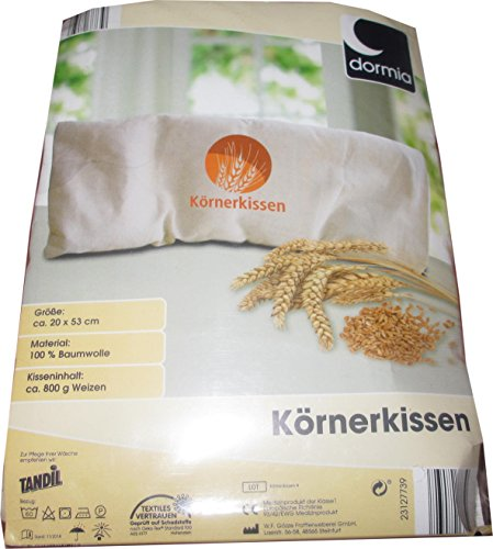 DORMIA® Körnerkissen, ca. 20 x 53 cm, Bezug abnehmbar & Schlafbrille