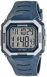 Sonata Sonata Touch Screen Digital Grey Dial Mens Watch - 77048PP02